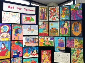 Artwork by Marilyn's students, on permanent display at the SCAN Offices in Ventura.